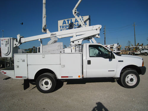 Atlec 35 foot bucket truck.