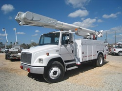 Bucket Trucks with insulated baskets.
