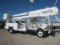 Two man Hi-Ranger bucket truck with 60 foot work height.