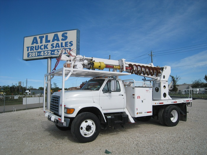 Utility Pole Digger Truck